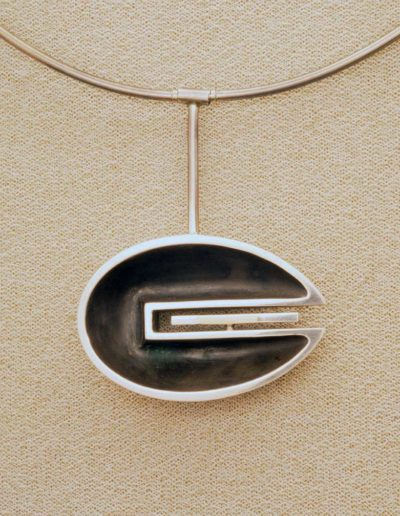 necklace: silver, gold accents