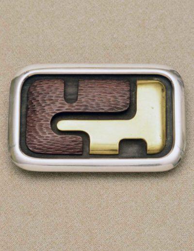 buckle: silver, brass, wood