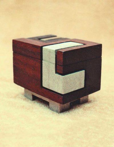 Box: vermilion wood, brass (view #2)