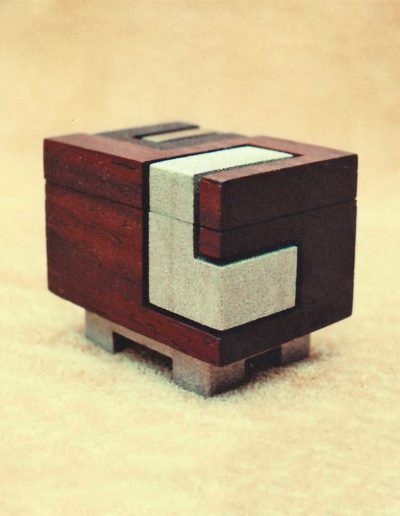box: vermilion wood, brass (view #2)